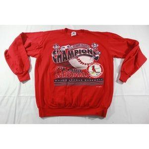 VTG 1996 St Louis Cardinals Champions Sweatshirt L